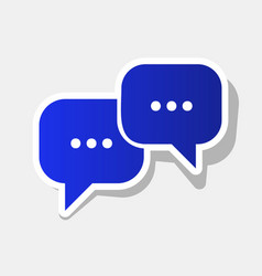 Speech bubbles sign new year bluish icon vector