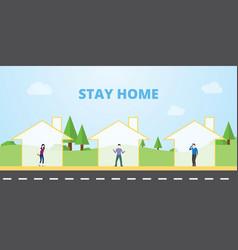 Stay home for coronavirus disease pandemic vector