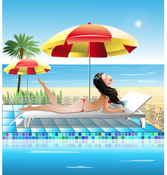 Summer holidays by the sea vector