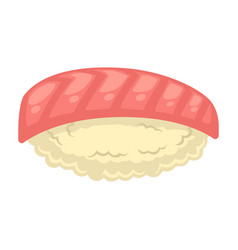 Sushi with red fish vector