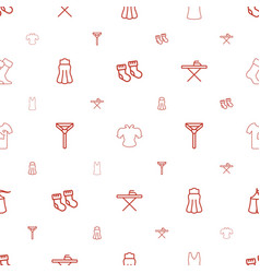 textile icons pattern seamless white background vector image
