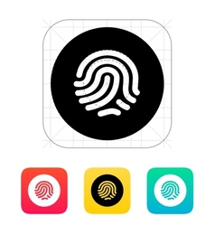 Thumbprint scanner icon vector image