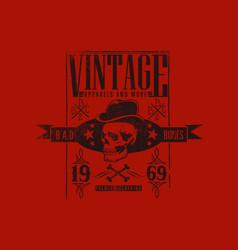 Vintage apparel since 1969 vector