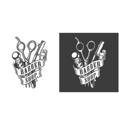 vintage barbershop label vector image