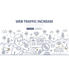 Web Traffic Doodle Concept vector image
