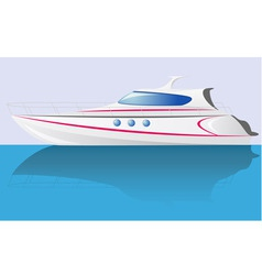 White speed yacht vector