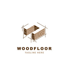 Wood logo with letter n shape vector