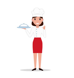 cartoon chef cook woman vector image vector image