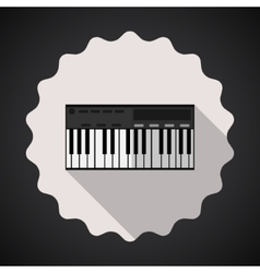 Music Keyboard Composer MIDI Synthesizer Flat Icon vector image vector image