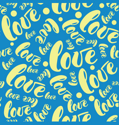 romantic love pattern background vector image
