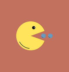 yellow toy smile in flat style vector image vector image