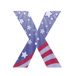 american letter X vector image vector image