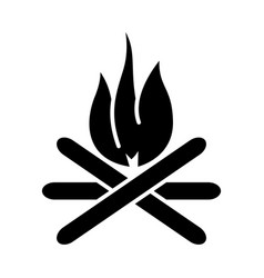 bonfire icon black sign on vector image