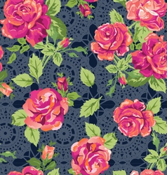 classic lace roses vector image vector image