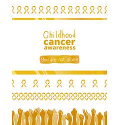 International childhood cancer day vector
