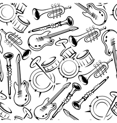 Musical instruments retro seamless pattern vector image