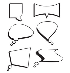 speech bubbles text set comic text box set vector image