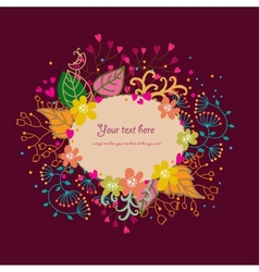 Cartoon floral background vector image