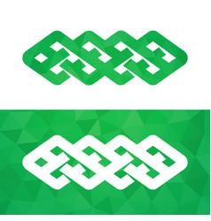 celtic knot - irish traditional symbol vector image
