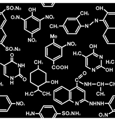 Chemistry seamless pattern vector image