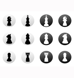 chess icons set vector image vector image