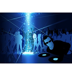 DJ Dance Party Background vector image vector image