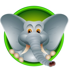 funny head elephant isolated vector image vector image
