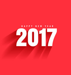 red background of 2017 text with shadow moving vector image vector image