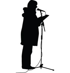 television presenter vector image