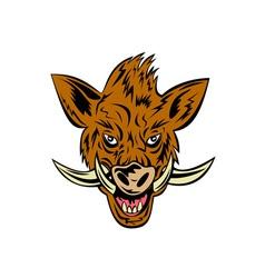 Wild Pig Boar Head vector image vector image