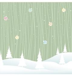 winter- christmas vector image