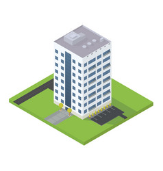 business isometric building vector image vector image
