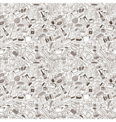 Cookery - seamless pattern vector image vector image