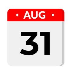 31 august calendar icon vector