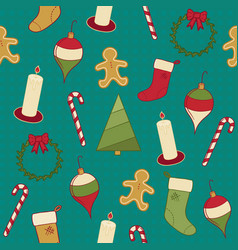 a seamless pattern of various objects that vector image