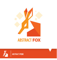 abstract fox icon symbol vector image