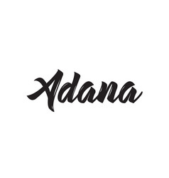 Adana text design calligraphy typography vector