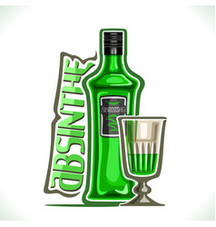 alcohol drink absinthe vector image