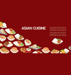 asian chinese or japaneese cuisine dishes food vector image