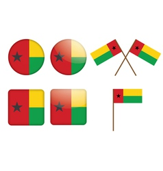 badges with flag of Guinea-Bissau vector image