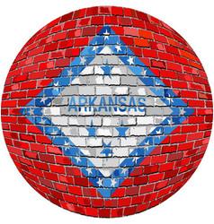 Ball with arkansas flag vector