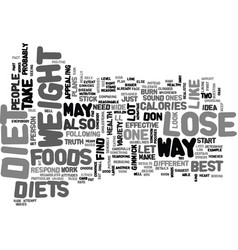 best way to lose weight keep it off text word vector image
