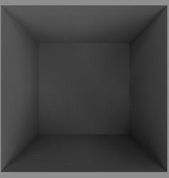 Black empty room or studio box top view vector