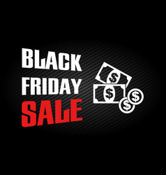 black friday sale design template discount text vector image