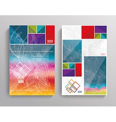 brochure template design with bright cubes vector image