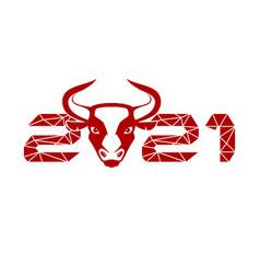 Bull symbol 2021 vector