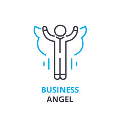 business angel concept outline icon linear sign vector image