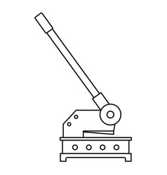 cutting machine icon outline style vector image