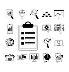 Data analysis business financial diagram mobile vector