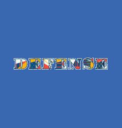 Defense concept word art vector